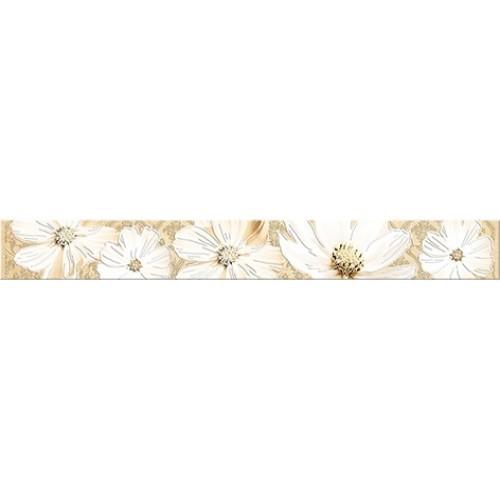 Бордюр Azori «Sfumato» Beige Floret (декор) 50.5Х6.2