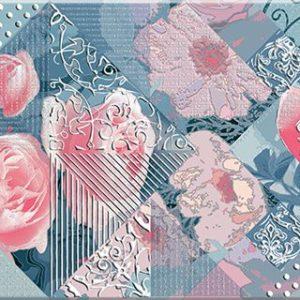 Плитка настенная Azori «Legato» Blue Damask (декор) 50.5х20.1