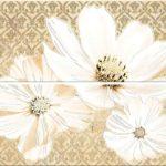 Плитка Azori «Sfumato» панно Beige Floret 50.5х40.2 (2 шт.)