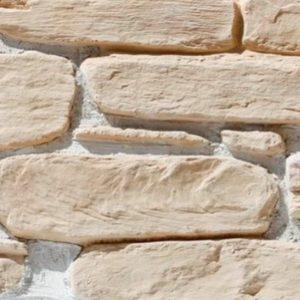 """Декоративный камень Bergstone """"Гранитный разлом"""" 160401 светло-бежевый (7-9Х12Х2.5 см) (разноразмерный)"""