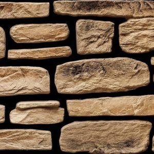 """Декоративный камень Bergstone """"Гранитный разлом"""" 160415 золотистый (7-9Х12Х2.5 см) (разноразмерный)"""