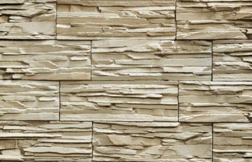 "Декоративный камень Bergstone ""Горный пик"" 161901 Светло-бежевый (29.9Х10Х1.6-1.8 см)"