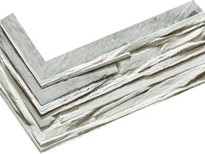 "Декоративный камень (угловой элемент) Bergstone ""Горный пик"" 161900ГП белый (9.5Х18Х10Х1.5-1.8 см)"
