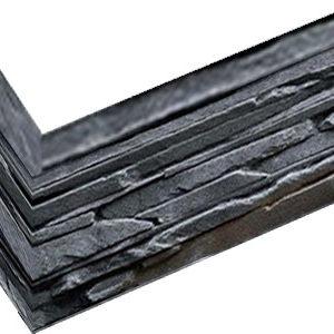 """Декоративный камень (угловой элемент) Bergstone """"Горный пик"""" 161919 Черный пепел (9.5Х18Х10Х1.5-1.8 см)"""