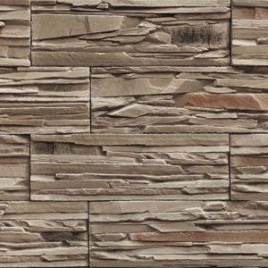 """Декоративный камень Bergstone """"Горный пик"""" 161907 Коричневый (29.9Х10Х1.6-1.8 см)"""