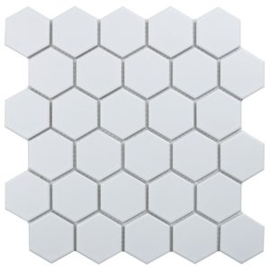 """Керамическая мозаика Starmosaic """"Homework"""" Hexagon Small White Matt (сетка 27.8Х26.5Х0.6 см)"""