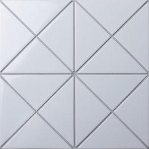 "Керамическая мозаика Starmosaic ""Homework"" Triangolo White Glossy (сетка 26.25Х26.25Х0.6 см)"