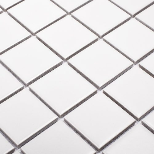 "Керамическая мозаика Starmosaic ""Homework"" White Matt (сетка 30.6Х30.6Х0.6 см, чип 48Х48 мм)"