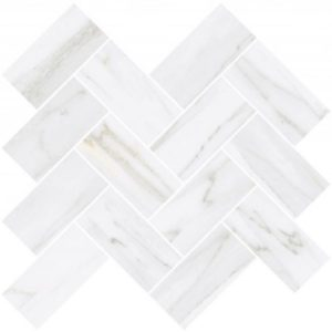 Керамогранит VitrA «Palissandro» шеврон белый (10Х5) 31.5Х27.9 (настенная, декор, мозаика)