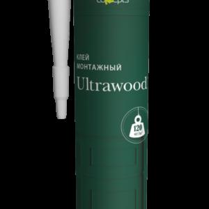 Клей ULTRAWOOD монтажный (прозрачный) 310 мл.