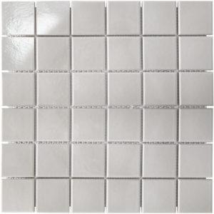 "Керамическая мозаика Starmosaic ""Homework"" Grey Glossy (сетка 30.6Х30.6Х0.6 см, чип 48Х48 мм)"