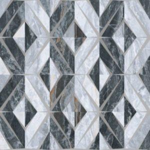 Керамогранит VitrA «Bergamo» геометрический микс холодная гамма (серый) 60Х60 (напольная, декор)
