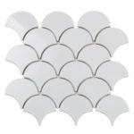 "Керамическая мозаика Starmosaic ""Homework"" Fan Shape White Glossy (сетка 29.3Х27.4Х0.6 см)"