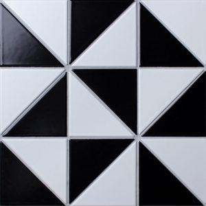 """Керамическая мозаика Starmosaic """"Homework"""" Triangolo Chess Matt (сетка 27.85Х27.85Х0.6 см)"""