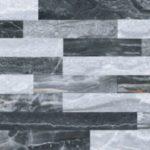 Керамогранит VitrA «Bergamo» 3Д Микс холодная гамма рельеф (серый) 60Х30 (настенная, декор)