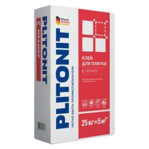 Клей для плитки Plitonit С Мрамор белый 25 кг