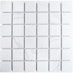 "Керамическая мозаика Starmosaic ""Homework"" Carrara Matt (сетка 30.6Х30.6Х0.6 см, чип 48Х48 мм)"
