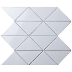 "Керамическая мозаика Starmosaic ""Homework"" Triangolo White Zip Glossy (сетка 26.25Х26.25Х0.6 см)"