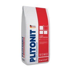 Клей для плитки Plitonit В экспресс Вб серый 5 кг