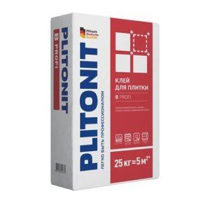 Клей для плитки, керамогранита и мозаики Plitonit В Профи серый 25 кг