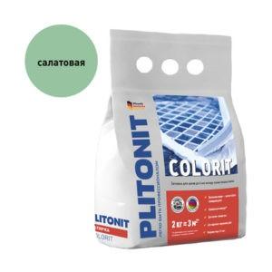 Затирка Plitonit Colorit салатовая 2 кг