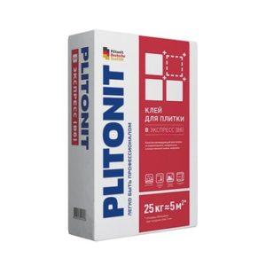 Клей для плитки и камня Plitonit В экспресс Вб быстротвердеющий серый 25 кг