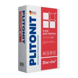 Клей для плитки, керамогранита и камня Plitonit В+ серый 25 кг