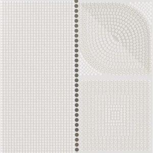 Плитка настенная (декор) Serra «Flavia 518» Wall Flower Decor Off White Glossy (90Х30Х1.2 см)
