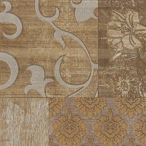 Плитка настенная (декор) Serra «Filigran 519» Wall Pastoral 1 Decor Beige&Brown Matt (90Х30Х1.2 см)