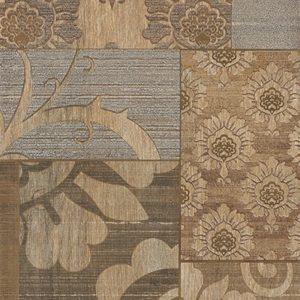 Плитка настенная (декор) Serra «Filigran 519» Wall Pastoral 2 Decor Beige&Brown Matt (90Х30Х1.2 см)
