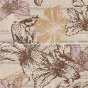 Панно настенное Gracia Ceramica «Allegro» beige panno 01 бежевый (60Х50 см)
