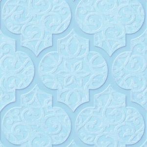 Плитка настенная (декор) Gracia Ceramica «Alisia» blue decor 02 голубая (90Х30 см)
