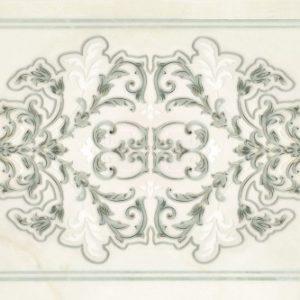 Плитка настенная (декор) Gracia Ceramica «Visconti» turquoise decor 02 зеленая (60Х25 см)