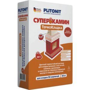 Cмесь кладочная для печей и каминов Plitonit СуперКамин ТермоКладка красная 20 кг
