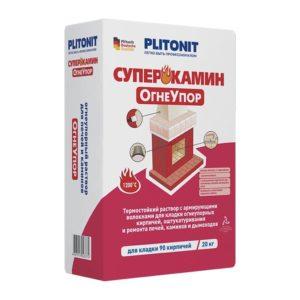 Cмесь кладочная огнеупорная Plitonit СуперКамин Огнеупор желтая 20 кг