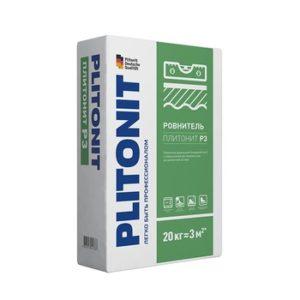 Ровнитель (наливной пол) финишный Plitonit Р3 самовыравнивающийся 20 кг