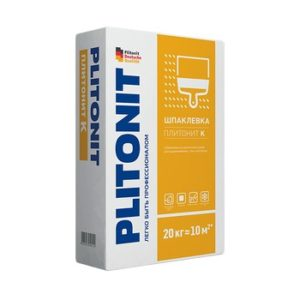 Шпаклевка цементная Plitonit К белая 20 кг