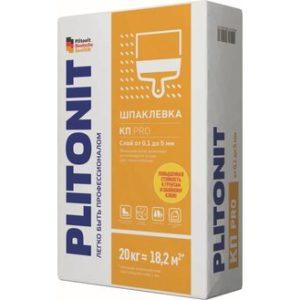 Шпаклевка полимерная Plitonit КП ПРО финишная белая 20 кг