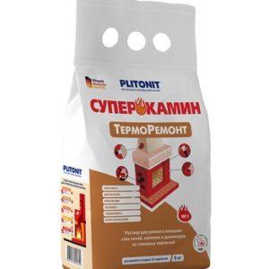 Состав ремонтный для печей и каминов Plitonit СуперКамин ТермоРемонт 4 кг