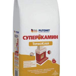 Термоклей Plitonit СуперКамин для облицовки печей и каминов , 5 кг
