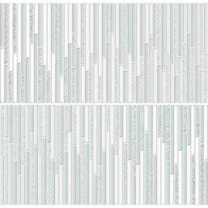 Плитка настенная (декор) Ibero «Intuition» Decor Shine Aquamarine (2 по 29Х100 см)