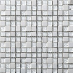 Стеклянная с камнем мозаика Bonaparte Iceberg (сетка 30Х30Х0.8 см)