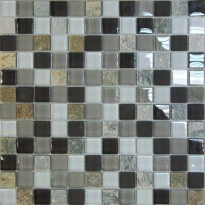 Стеклянная с камнем мозаика Bonaparte Style time-23 (сетка 30Х30Х0.8 см)