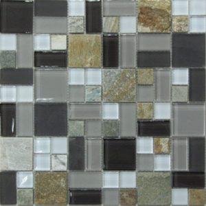 Стеклянная с камнем мозаика Bonaparte Style time-48 (сетка 30Х30 см)