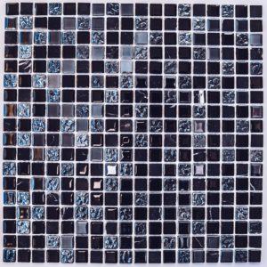 Стеклянная с камнем мозаика Bonaparte Tesla (сетка 30Х30Х0.4 см)
