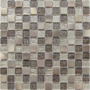 Стеклянная мозаика Bonaparte Trend Bronze (сетка 30Х30Х0.4 см)