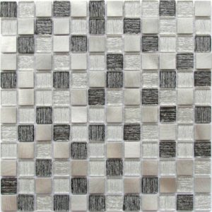 Стеклянная мозаика Bonaparte Trend Silver (сетка 30Х30Х0.4 см)