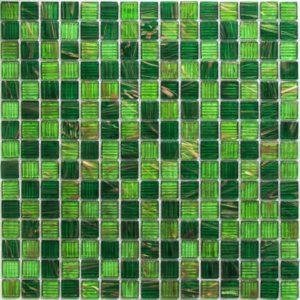 Стеклянная мозаика Bonaparte Verde (сетка 32.7Х32.7Х0.4 см)