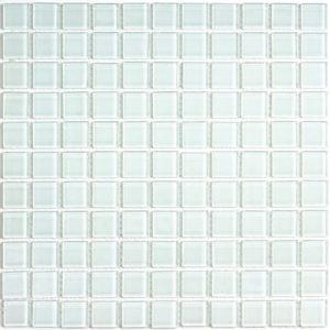 Стеклянная мозаика Bonaparte White glass (сетка 30Х30Х0.4 см)