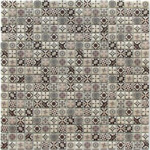 Стеклянная мозаика Bonaparte Xindi Grey (сетка 30Х30Х0.6 см)